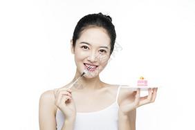 口腔牙齿护理蛋糕图片