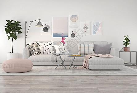 现代简约沙发茶几图片
