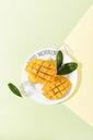 夏季新鲜芒果芒果汁图片