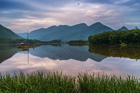 大九湖的清晨美景图片