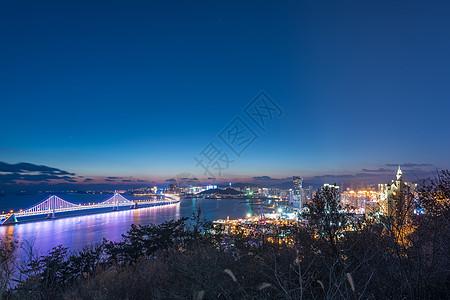 海滨城市夜景图片