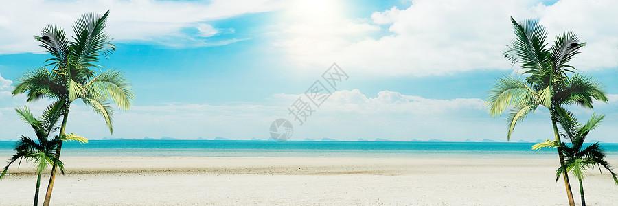 休闲沙滩背景图片