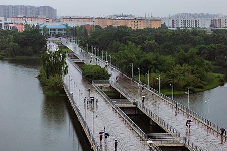 四川大学江安校区长桥高清图片