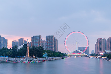 不同天气下的天津之眼图片