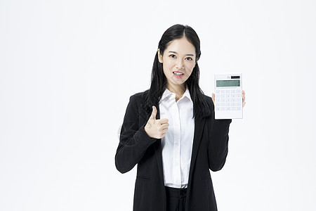 商务女性商业计算图片