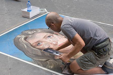 意大利佛罗伦萨街头画家图片