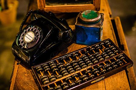 老式电话珠算图片