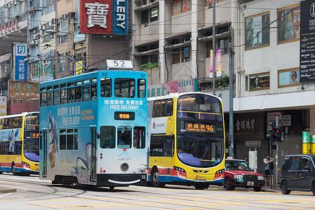 香港街头叮叮车图片