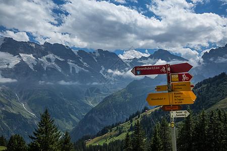 瑞士著名的旅游目的地米伦小镇风光图片