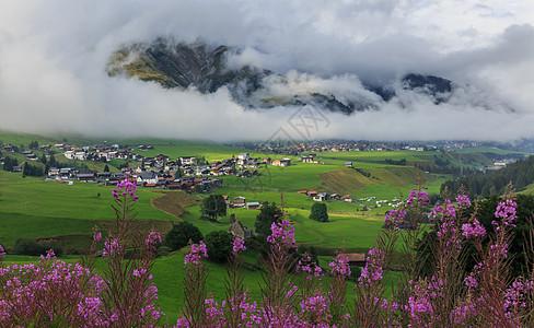 瑞士乡村田园风光图片