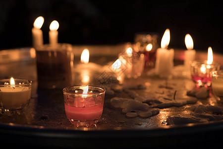 蜡烛祈祷图片