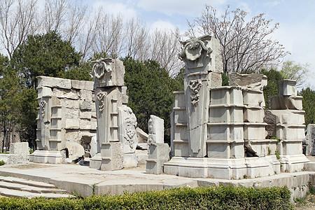 北京圆明园遗址图片