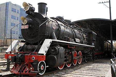 北京798艺术区的蒸汽机车图片