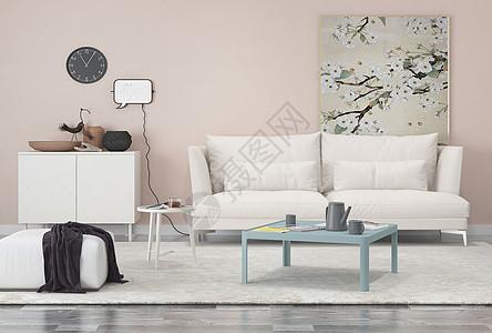 清新沙发场景图片