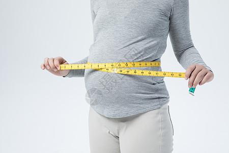 孕妇量腰围图片