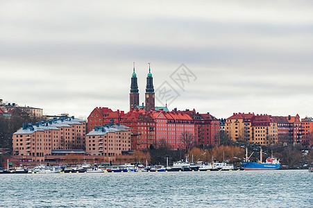 瑞典斯德哥尔摩河畔建筑景色图片
