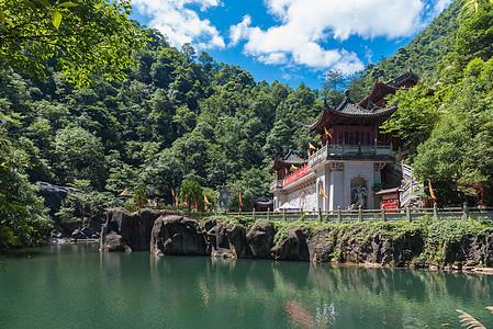 浙江遂昌山中的寺庙图片
