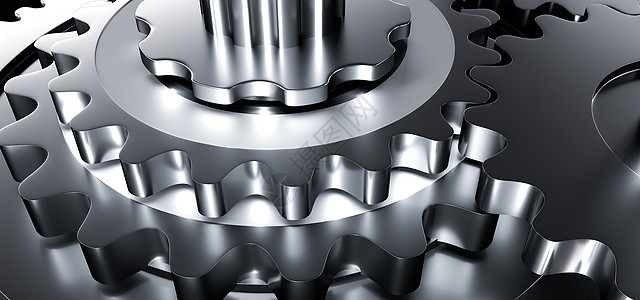 3D机械齿轮场景图片