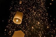 泰国水灯节万人天灯图片