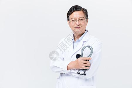 中老年医生形象图片