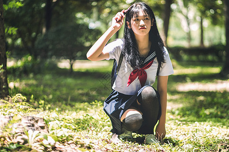 日系校园小清新美女图片