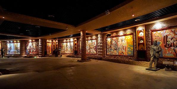 新疆吐鲁番火焰山景区地下展览馆图片