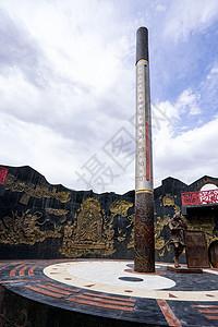 新疆吐鲁番火焰山景区金箍棒温度计图片
