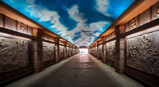 新疆吐鲁番火焰山景区地下长廊展厅图片