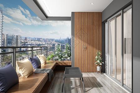 阳台场景设计图片
