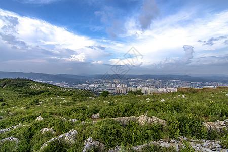 昆明山全景图片