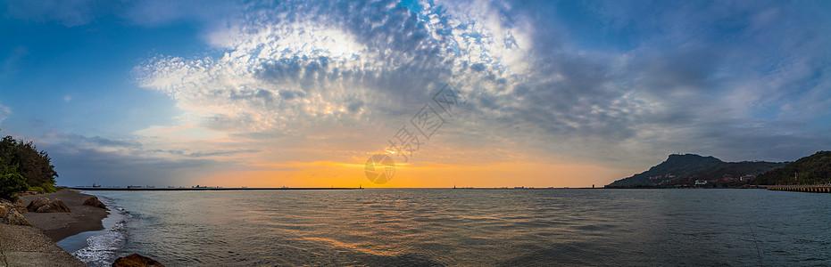 高雄港口的海景图片