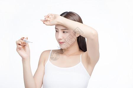 女性量体温图片