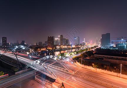 天津市直沽桥夜景图片