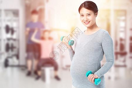孕妇锻炼健身图片