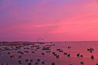 越南美奈渔港晚霞图片