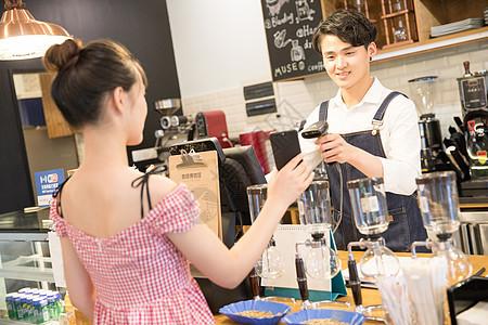 咖啡馆服务员图片