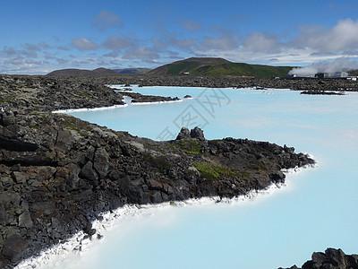 冰岛蓝湖景色图片