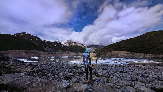 户外徒步线路稻城亚丁图片