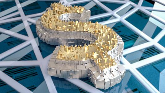 创意城市金融图片