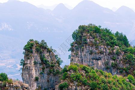 湖北恩施恩施大峡谷景区自然风光图片