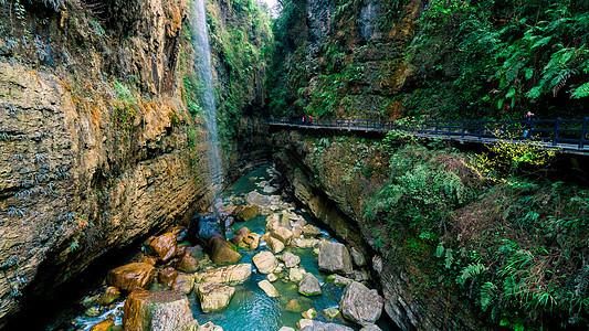 湖北恩施大峡谷景区云龙河地缝图片