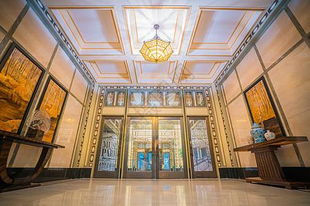 上海和平饭店建筑装饰图片