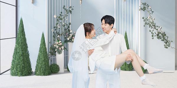 海边结婚图片