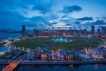 城市灯光夜景图片
