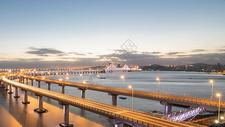 现代城市大连星海湾跨海大桥夜景图片