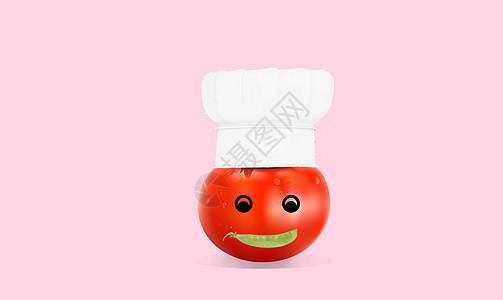 戴厨师帽的番茄图片