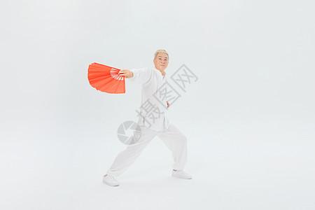 老年人舞扇图片