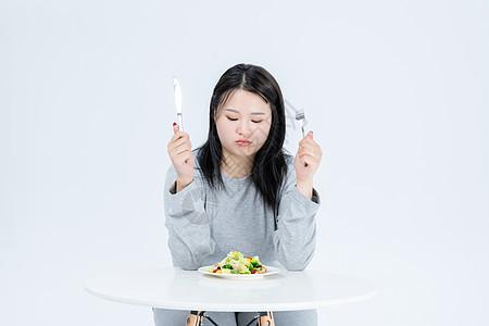 胖女生健康饮食图片