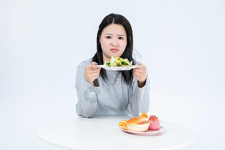 胖女生健康生活图片