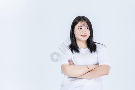 胖女生情绪图片